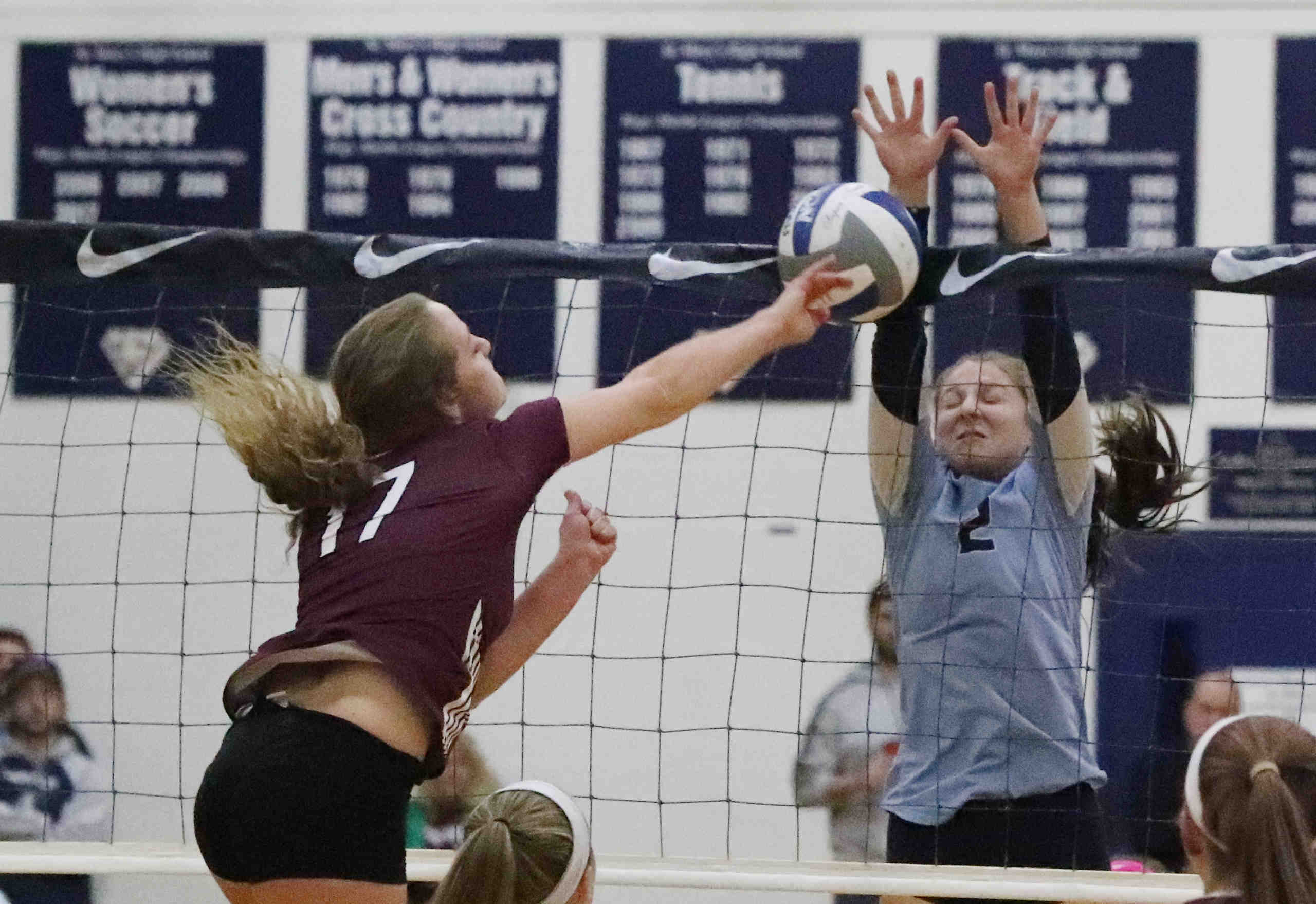 high school extra  portville volleyball outlasts st  mary