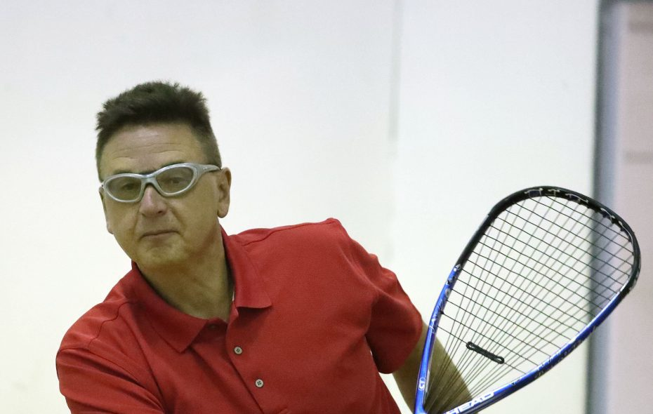 Brian Mach is the oldest ever to achieve the No. 1 ranking in the City Racquetball Open Division. (James P. McCoy/News file photo)