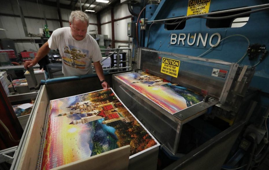 Buffalo Games has built relationships with national retailers since its founding in 1986. (Sharon Cantillon/Buffalo News)