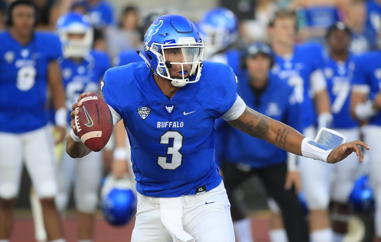 UB quarterback Tyree Jackson will train with Jordan Palmer in California in preparation for the NFL Draft in April. (Harry Scull Jr./News file photo)