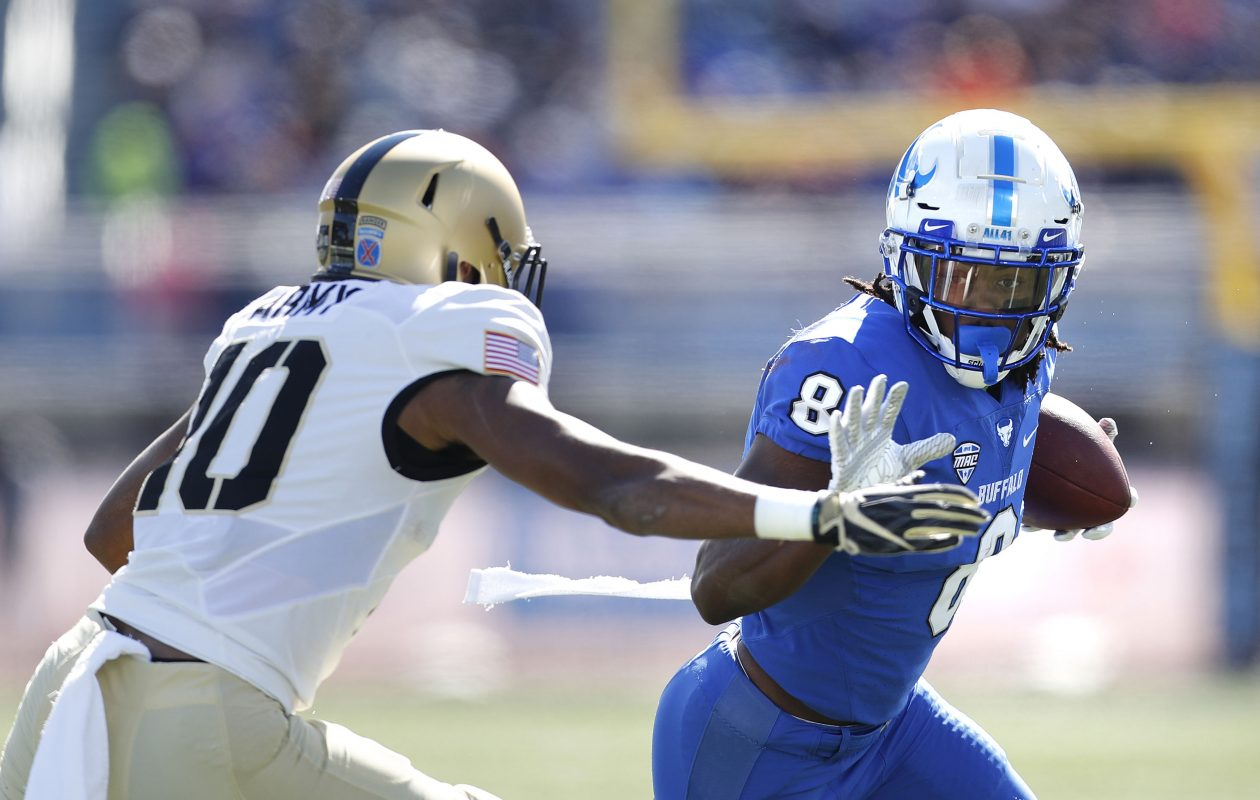 Wide receiver K.J. Osborn and the University at Buffalo football team play the first of three weeknight games Tuesday against Miami (Ohio). (Mark Mulville/News file photo)