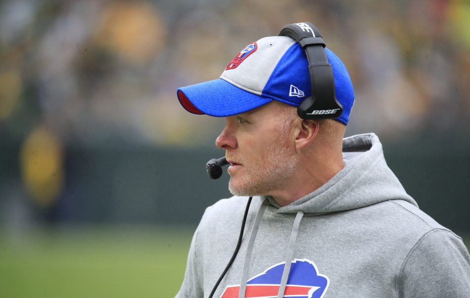 Sean McDermott will coach against the team that gave him his start in the NFL on Sunday when Buffalo hosts Philadelphia. (Harry Scull Jr./News file photo)