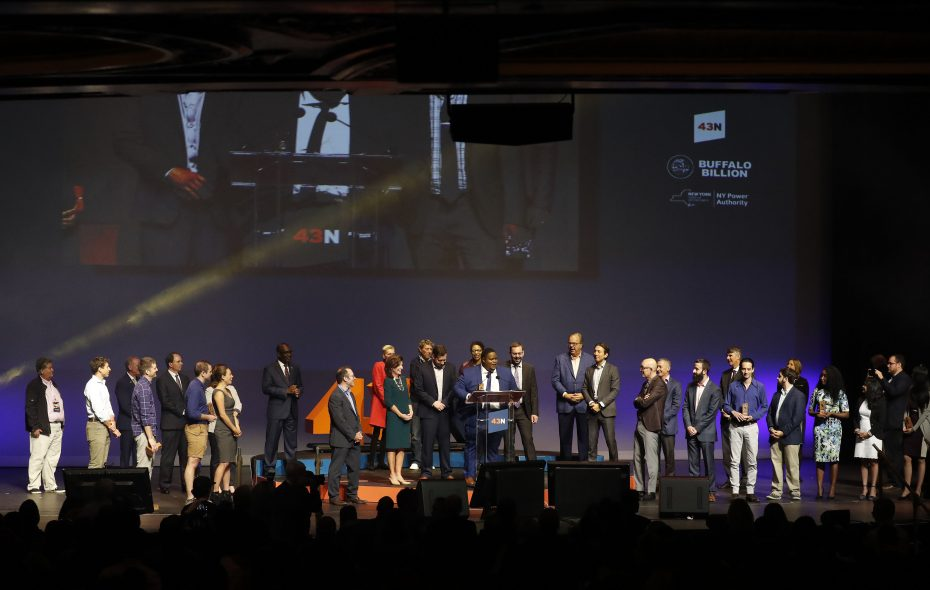 43North awarded prizes to eight companies on Wednesday. (Mark Mulville/Buffalo News)