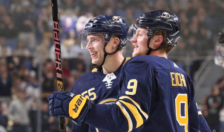 buffalo sabres-jack eichel-rasmus ristolainen-vegas golden knights-nhl-hockey-score-highlights