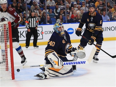 The Buffalo Sabres took on the Colorado Avalanche at KeyBank Center, Thursday, Oct. 11, 2018. The Avalanche beat the Sabres 6-1.