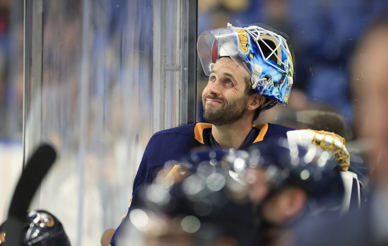 Carter Hutton has a .917 save percentage this season for the Buffalo Sabres. (Harry Scull Jr./Buffalo News)