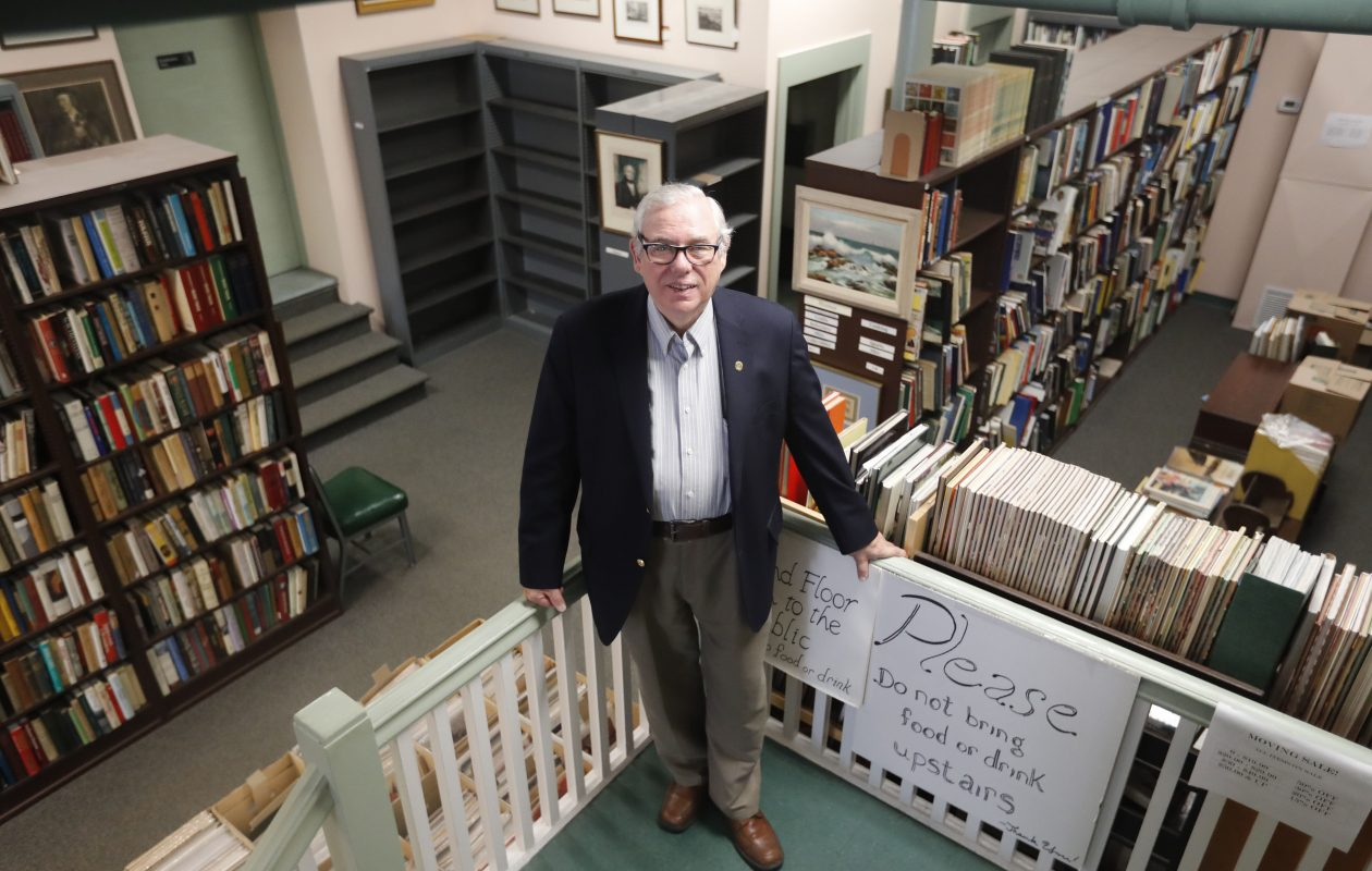Ronald Cozzi, owner Old Editions Book Shop, at the shop in Buffalo Tuesday, October 9, 2018.   (Mark Mulville/Buffalo News)