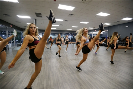 Dancers auditioned for the Buffalo Bandettes, the professional dance team for the Buffalo Bandits lacrosse team,  on Sunday, Oct. 14, 2018, at Catalyst Fitness in Depew.
