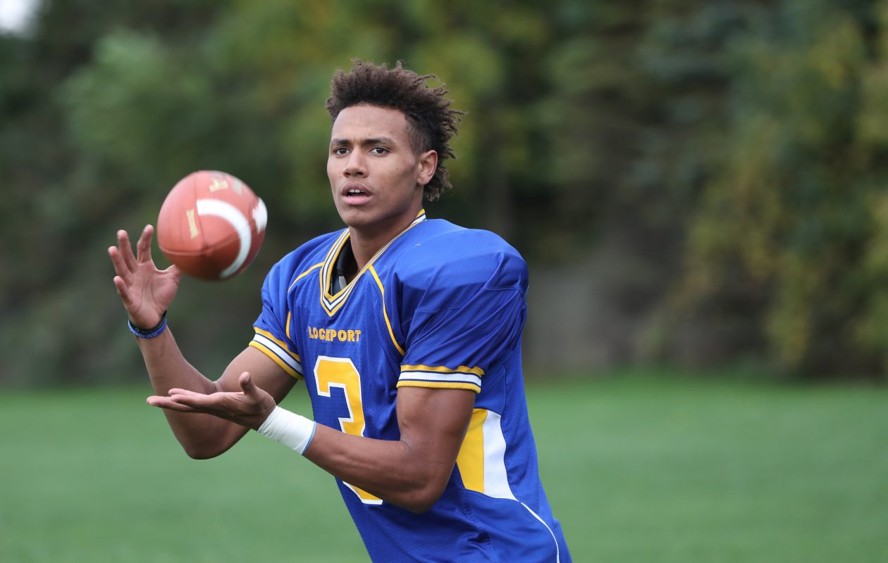 Lockport High senior Malik Brooks (Sharon Cantillon/Buffalo News)