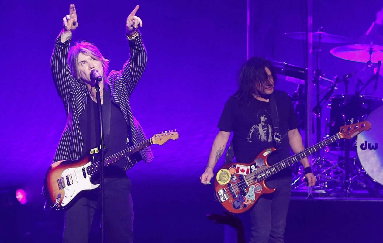 The Goo Goo Dolls' Johnny Rzeznik, left, and Robby Takac perform one of three sold-out shows in October 2018 at Shea's Performing Arts Center . (Mark Mulville/Buffalo News)