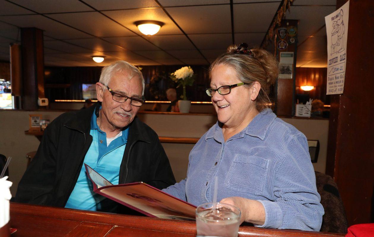 Regulars Joe Margeson and his wife Jane Jurek- Margeson, of the City of Tonawanda, sit at the bar before eating dinner. (Sharon Cantillon/Buffalo News)