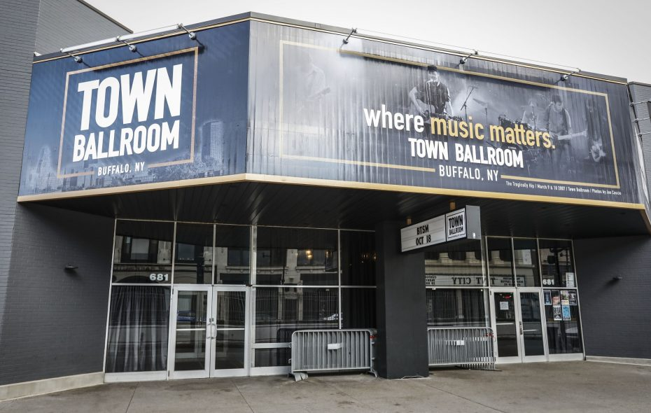 Town Ballroom's new sign was the product of years of procrastination, a big fight and the help of three local contacts. (Derek Gee/Buffalo News)
