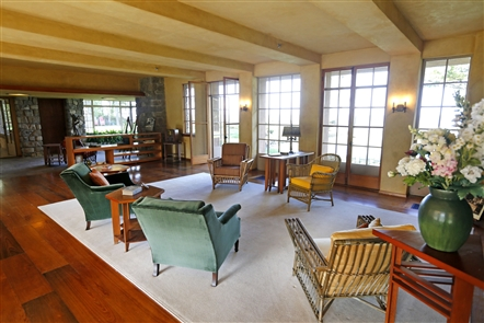 The 9,000-square-foot Graycliff Estate, designed by Frank Lloyd Wright as a century summer retreat for the Darwin Martin family, was completed between 1926 and 1931 on 8.5 acres along the Lake Erie bluffs in Derby. State officials and Graycliff Conservancy members announced the near-completion of improvements, including walls, structure, flooring and furnishings using almost $10 million from the Buffalo Billion II project. Saved from the wrecking ball in 1997, the home has since been added to the New York State Historic Landmark and National Register of Historic Places indexes. Tours are available.