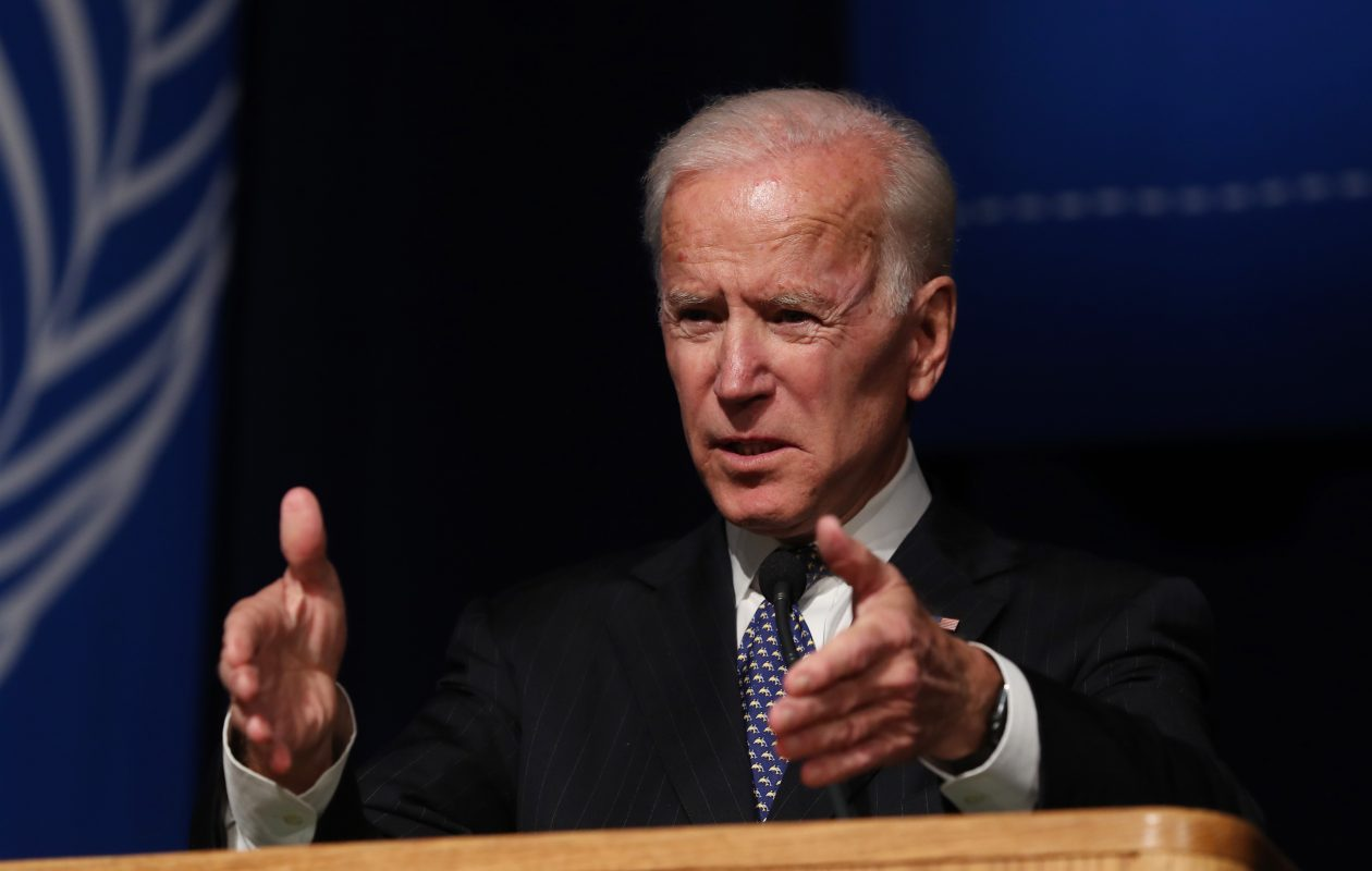 Former Vice President Joe Biden opened the University at Buffalo's 2018-19 Distinguished Speaker Series to a sold-out crowd at Alumni Arena on Thursday. (Sharon Cantillon/Buffalo News)