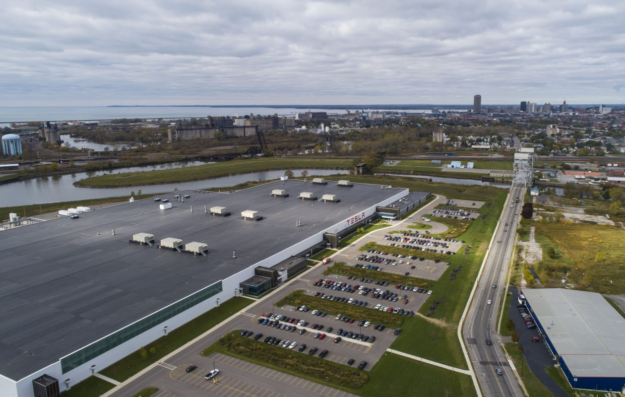 The Tesla plant at RiverBend. (Derek Gee/Buffalo News)