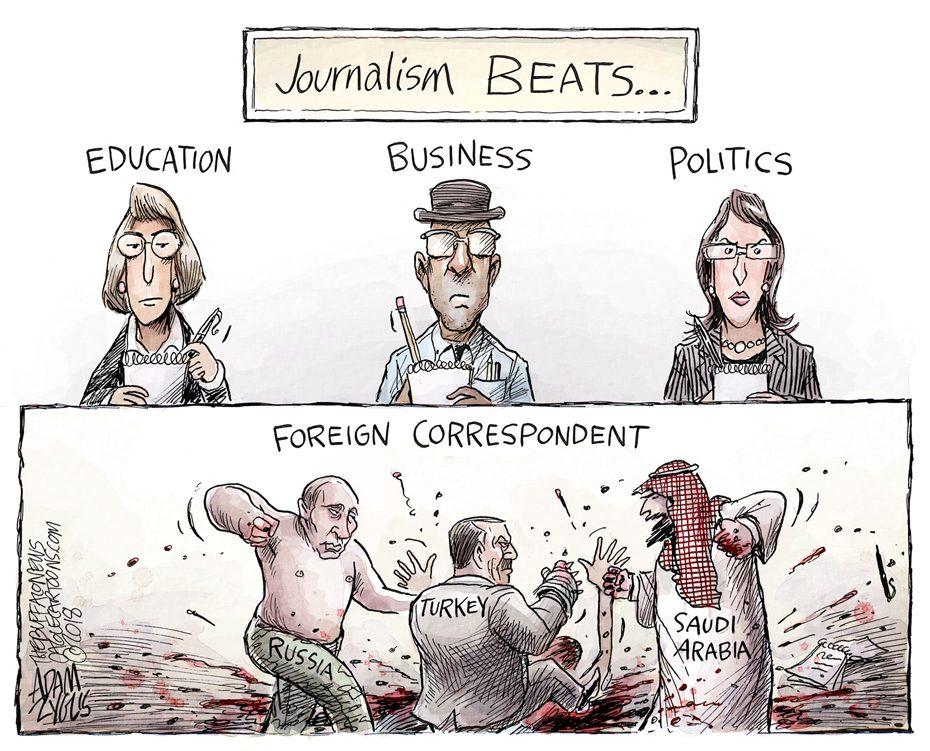 Threats to journalism: October 20, 2018