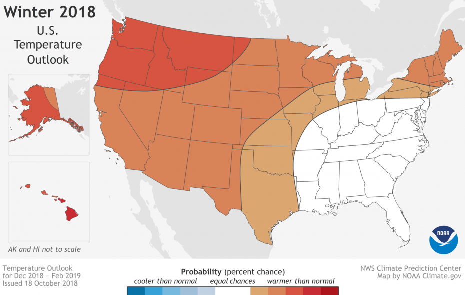 There's a 33 to 40 percent chance #Buffalo's winter will be warmer than average, according to federal forecasters. (NOAA)