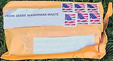 In this photo supplied by the FBI, one of the package bombs that had been sent to many critics of President Donald Trump is shown. (Photo by FBI via Getty Images)