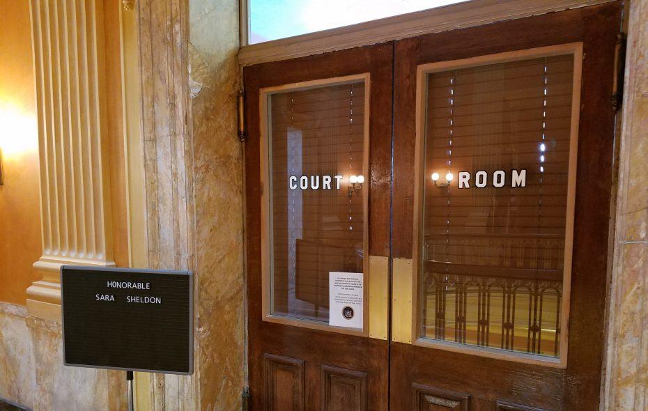 The courtroom of Niagara County Judge Sara Sheldon. (Thomas J. Prohaska/Buffalo News)