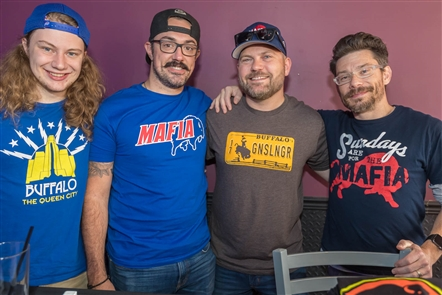 Charitable t-shirt organization 26 Shirts - which has created clever Buffalo sports-themed shirts for the last five years, celebrated its anniversary on Sunday, Oct. 14, 2018, as Sports City Pizza Pub when the Bills played the Houston Texans. See who recognized the milestone.