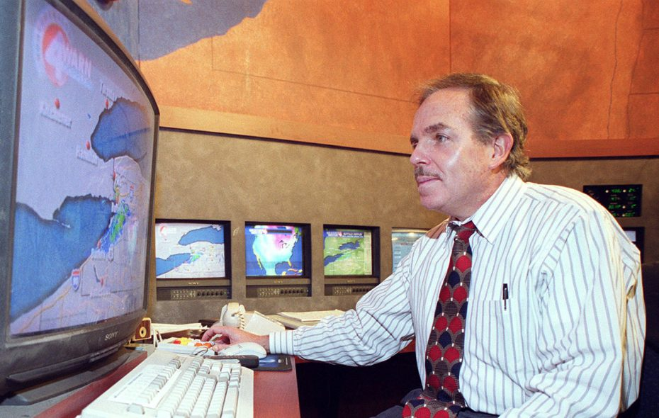 Don Paul looks at radar during his years at Channel 4, long after his first brush with a radar mistake. (Sharon Cantillon/News file photo)