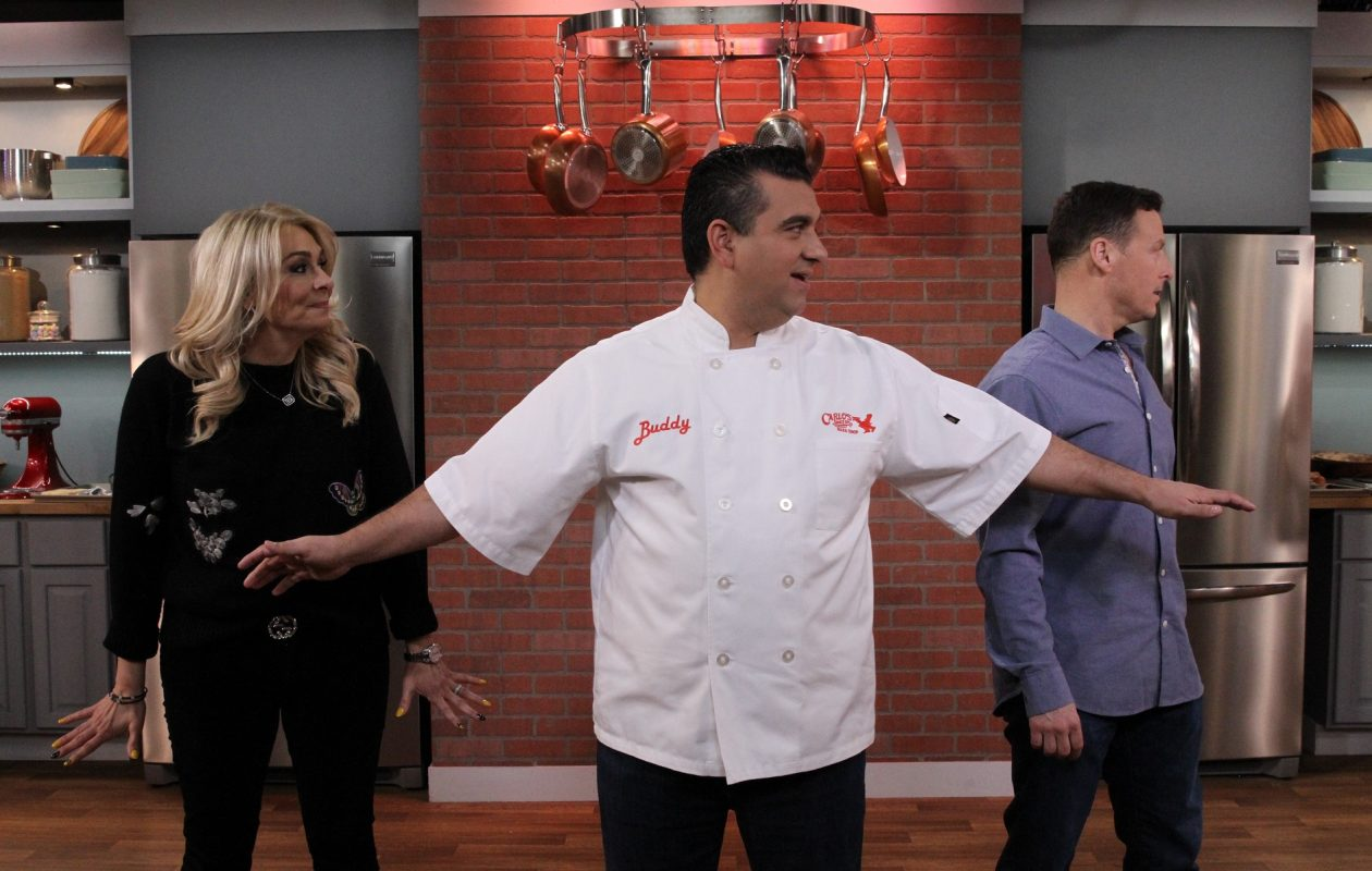 Buddy Valastro, middle, is the star of 'Bake It Like Buddy' on Discovery Family, a show that will feature a Kenmore native on Halloween. (via Discovery Family)