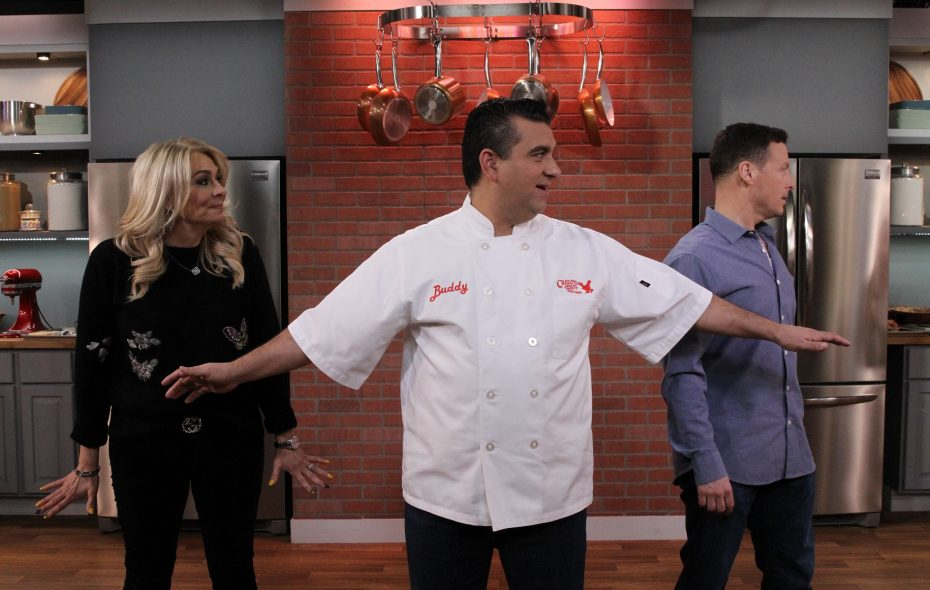 """Buddy Valastro, middle, is the star of """"Bake It Like Buddy"""" on Discovery Family, a show that will feature a Kenmore native on Halloween. (via Discovery Family)"""