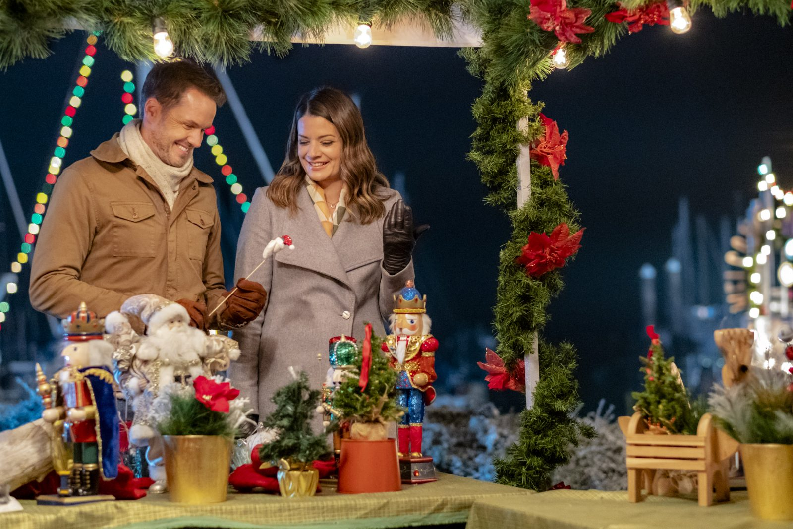 Kimberley Sustad Starts To Fall For Paul Campbell In A Godwink Christmas On Hallmark Movies Mysteries Crown Media Bettina Strauss