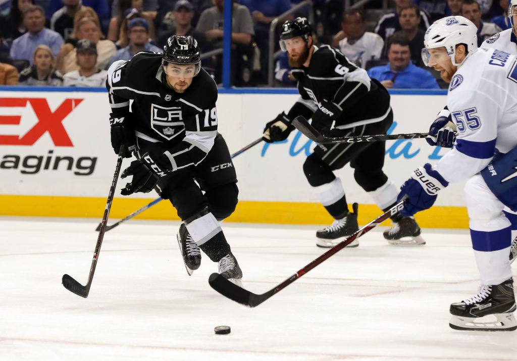Alex Iafallo played 75 games as a rookie for the Kings last season. (Getty Images)