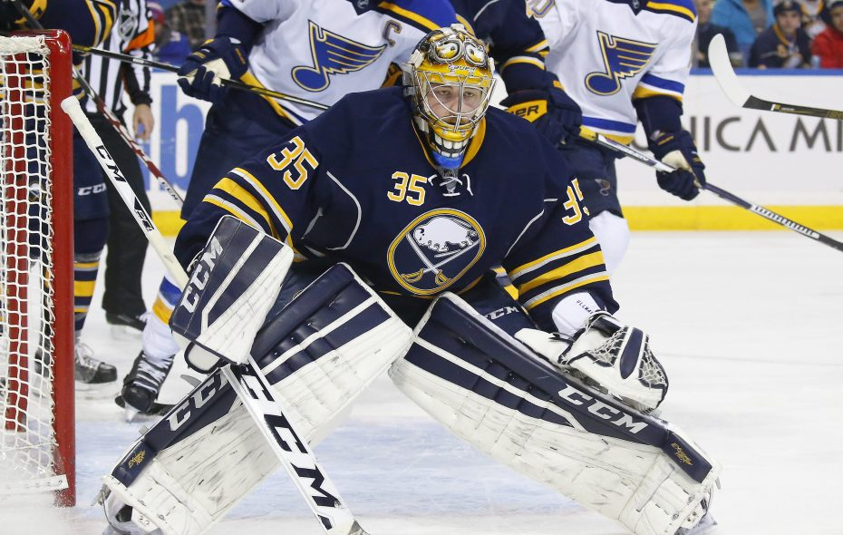 Linus Ullmark has posted a 2.00 goals-against average and .935 save percentage in three starts this season.(Mark Mulville/Buffalo News file photo)