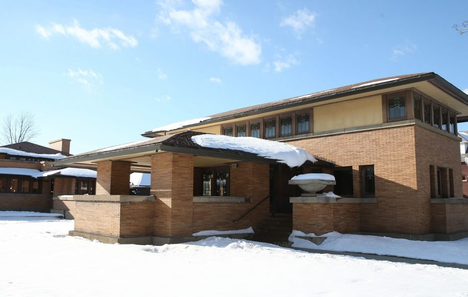 The Barton House, which is located next to the Darwin Martin House, was designed by Frank Lloyd Wright. (Sharon Cantillon/Buffalo News)