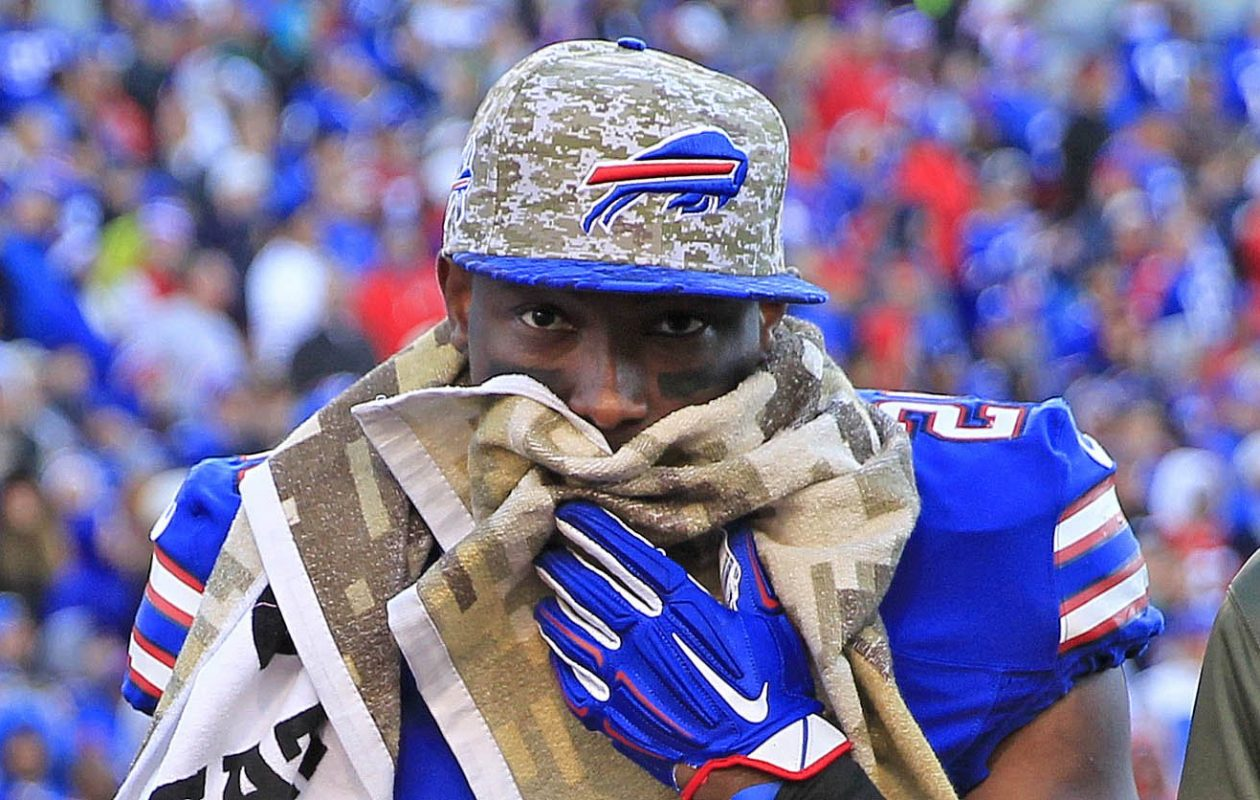 Bills running back LeSean McCoy leaves the field in a game against the Dolphins on Nov. 8, 2015. (Harry Scull Jr./Buffalo News)