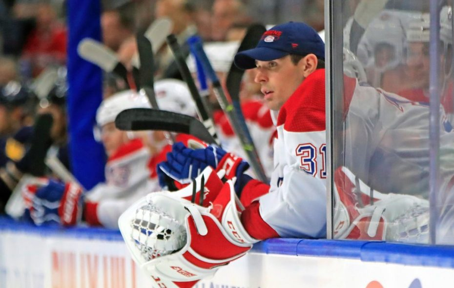 Montreal starter Carey Price watched from the bench Thursday night as backup Antti Niemi got the start against the Sabres (Harry Scull Jr./Buffalo News).