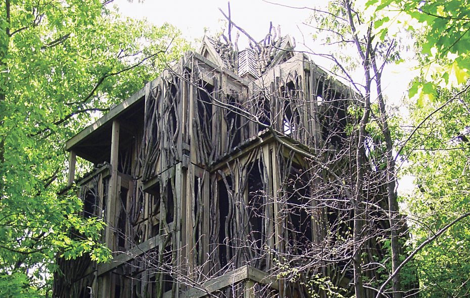 The six-story treehouse at the Cayuga Nature Center.