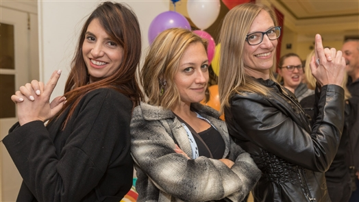 Smiles at Cirque de la Mode Fashion Show at NACC