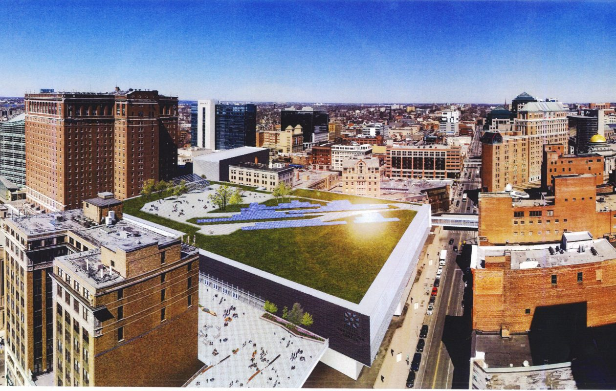 Developer Mark Croce has a plan to expand the Buffalo Niagara Convention Center by building new space over Franklin Street, connecting the existing center to Statler City.