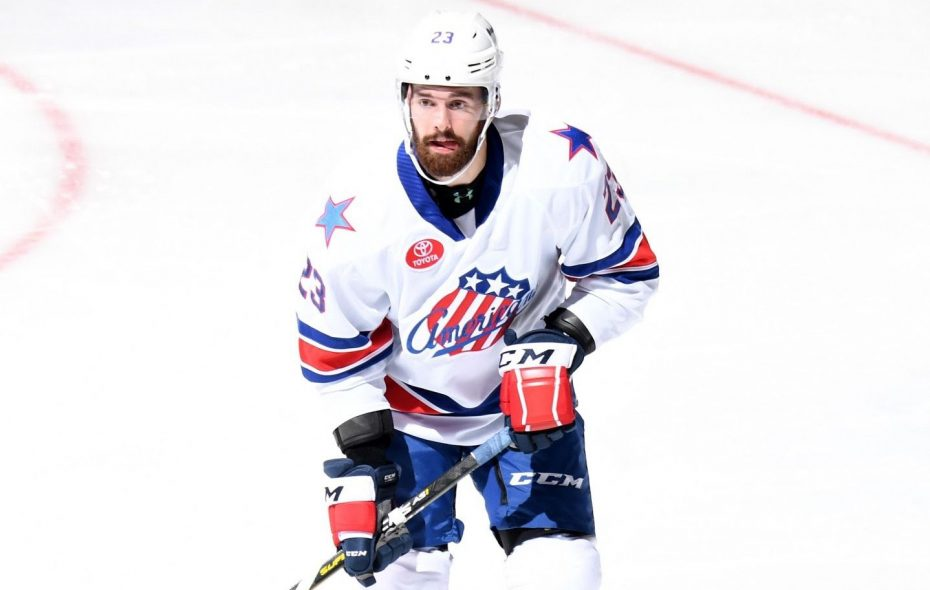 Amerks defenseman Jack Dougherty recently was acquired from the Nashville Predators in a trade for Nick Baptiste. (Micheline Veluvolu/Rochester Americans)