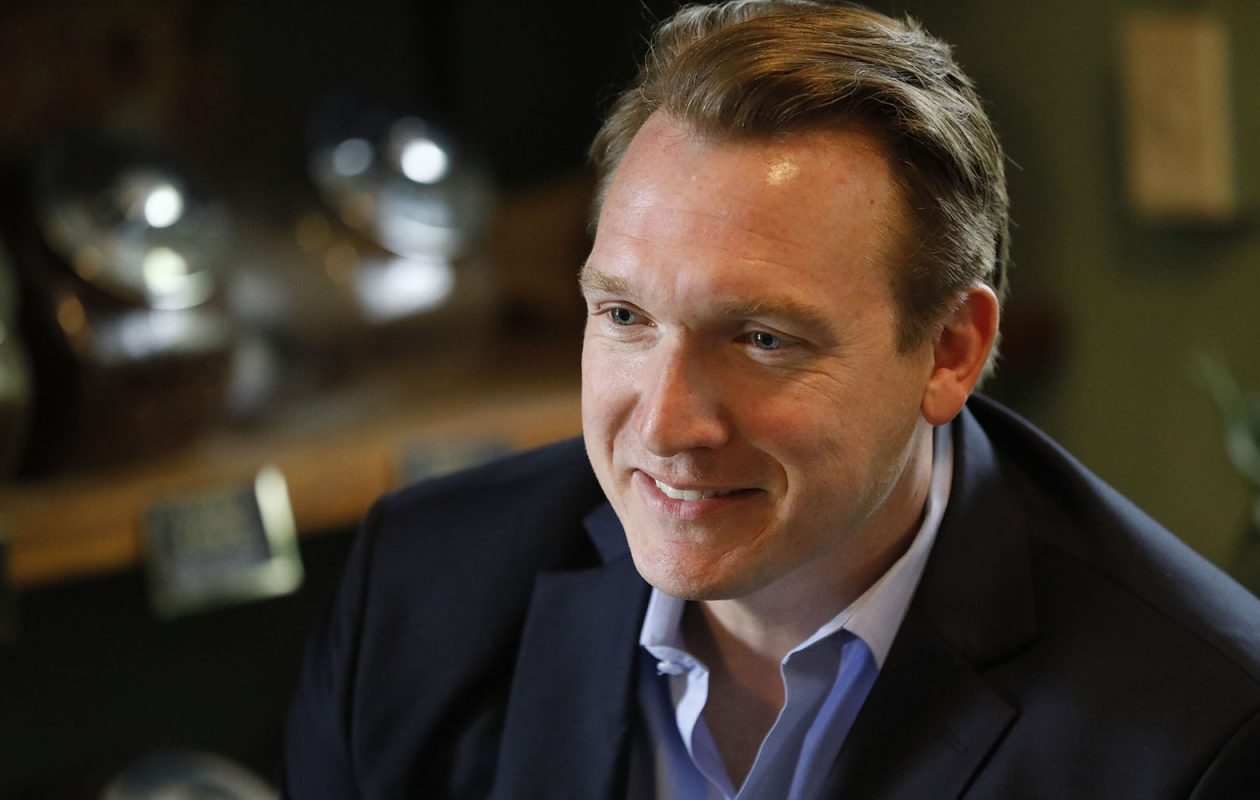 Democrat Nathan McMurray lost  by only 1,000 votes to indicted Republican incumbent Chris Collins in the race for the 27th Congressional District, the most Republican district in the state.. Gee/Buffalo News)