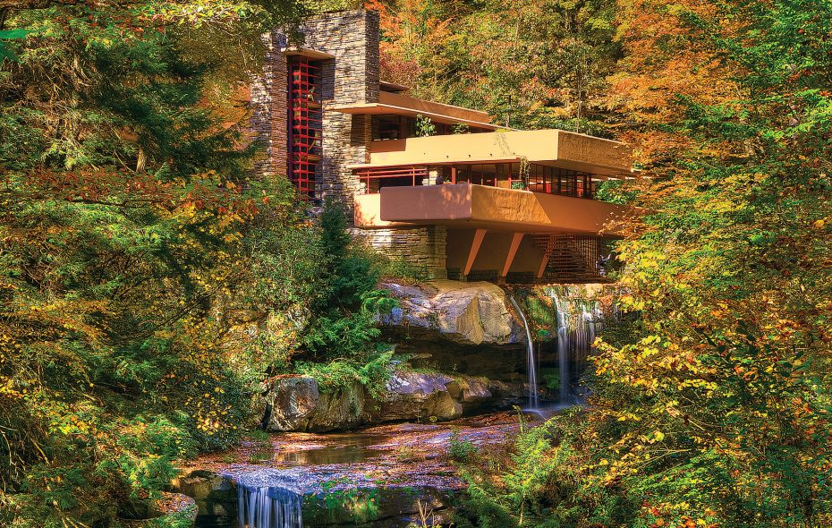 Laurel Highlands, a 250-square mile region in the Allegheny mountains of Pennsylvania, is home to  Frank Lloyd Wright's masterpiece, Fallingwater. (Laurel Highlands Visitors Bureau)