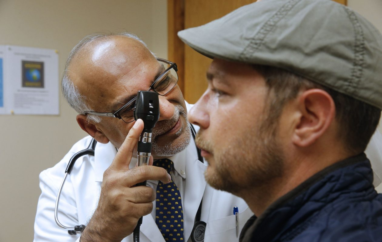 Dr. Fuad Sheriff, examines patient Patrick Milks at the Amherst Medical Associates office on Bailey Avenue in Amherst. Sheriff advises patients to come prepared with questions and to bring in their prescription medications. (Robert Kirkham/Buffalo News)