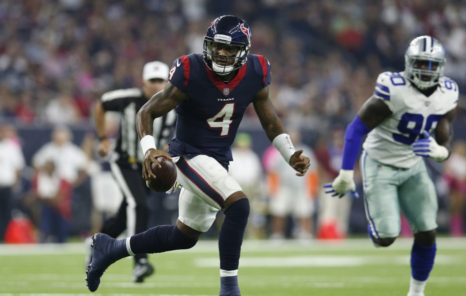 Deshaun Watson has played in front of a struggling offensive line (Tim Warner/Getty Images)