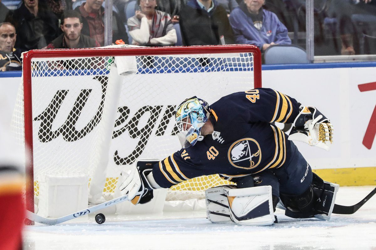Carter Hutton was 8-0 during the Sabres' 10-game winning streak. (James P. McCoy/Buffalo News)