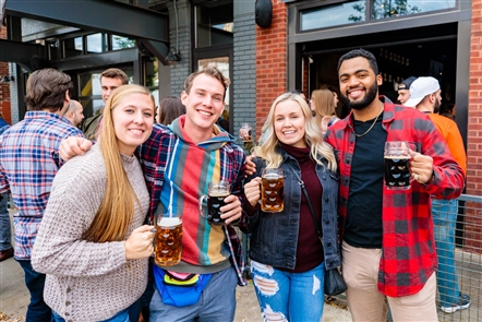 Thin Man Brewery, at 492 Elmwood Ave., shut down a portion of the street in front of the brewery-restaurant for its annual Oktoberfest party, featuring the German-American Musicians and plenty of the brewery's beer on Saturday, Oct. 13, 2018. See who raised their commemorative steins in jubilation.
