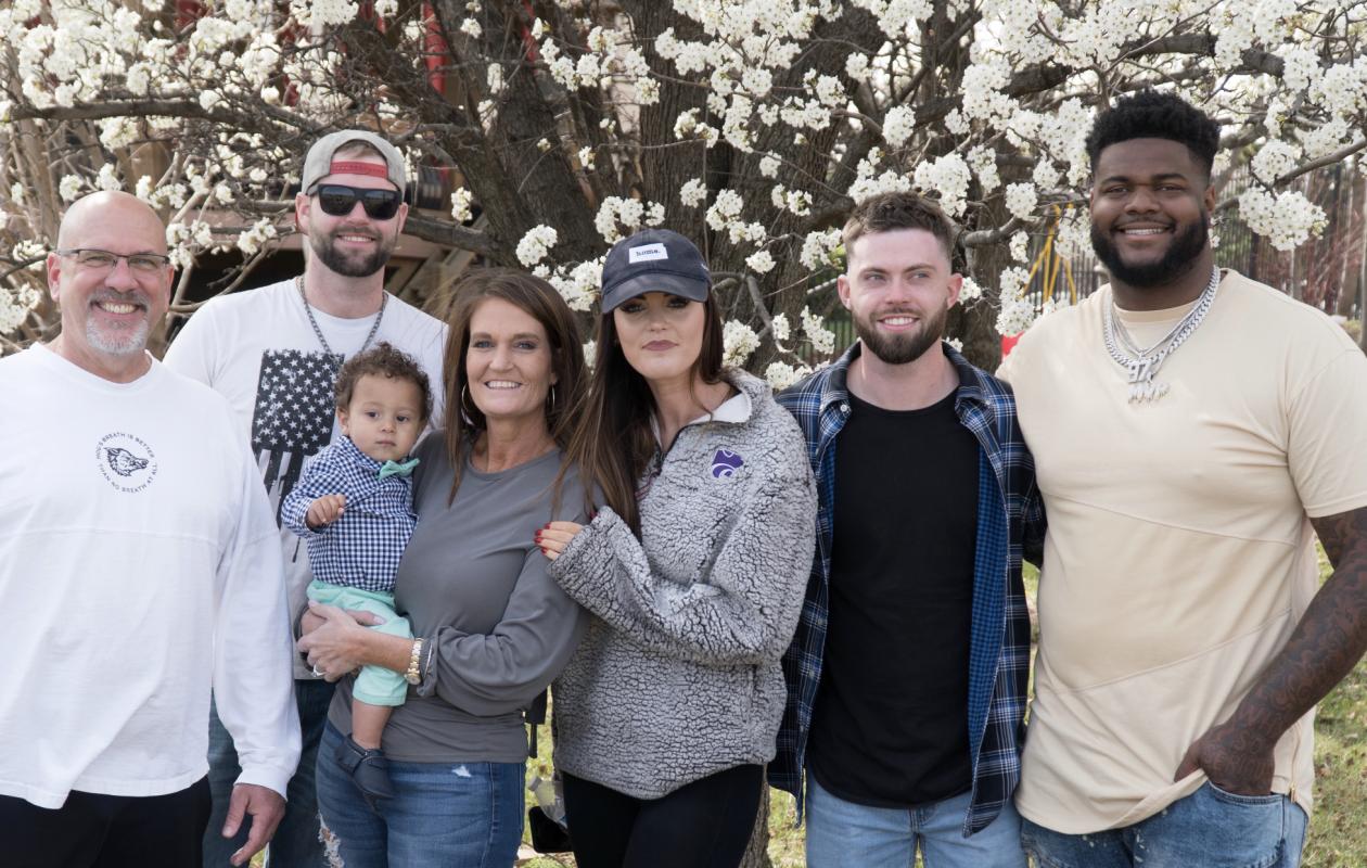 From left: Shane Waggoner, Ben Lohmeyer, Cindy Waggoner (holding Malik Phillips), Cassie Lohmeyer, Zach Lohmeyer and Jordan Phillips. (Provided photo)
