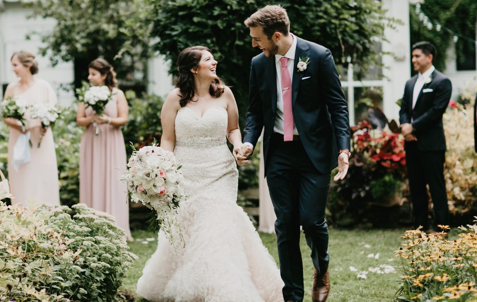 Ellina and Joe married in her parents' backyard then headed to Hydraulic Hearth to celebrate. (Shaw Photography Co.)