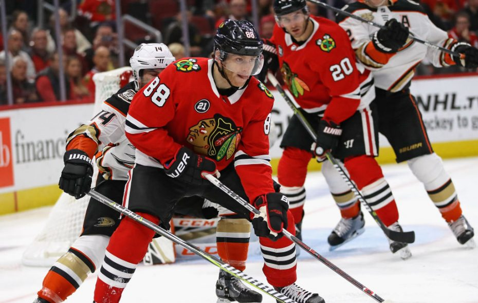 Patrick Kane of the Blackhawks has been dangling with the puck all season during a fast start (Getty Images).