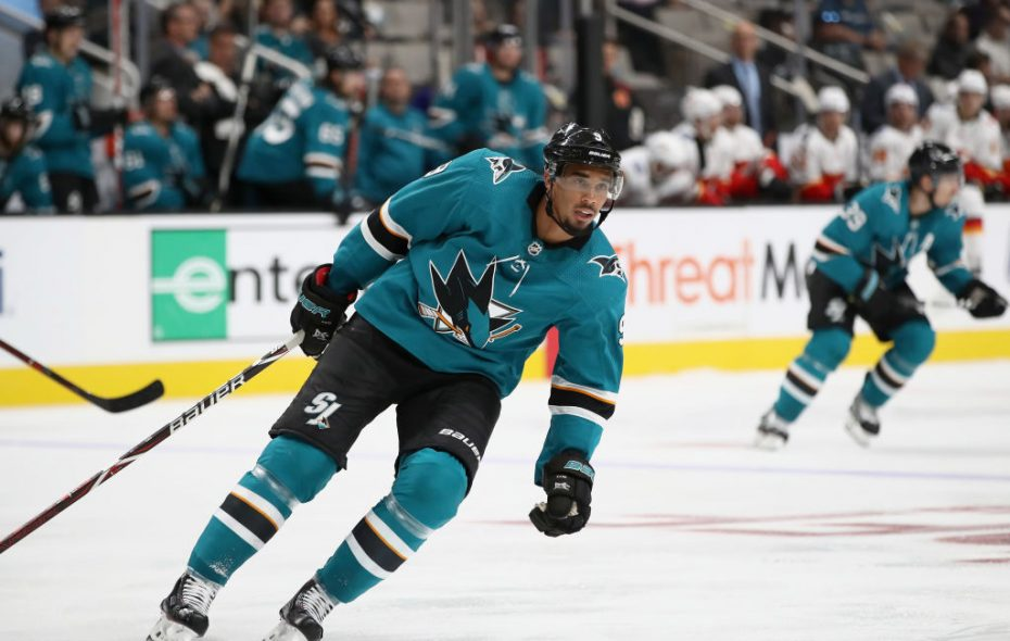 Evander Kane leads the Sharks with four goals this season. (Getty Images)