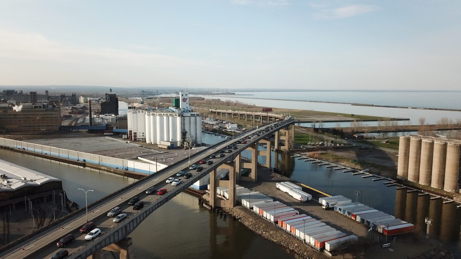 The Skyway construction project is about to start up again. (John Hickey/Buffalo News)