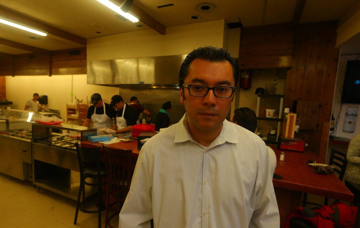 Owner Sergio Mucino,  inside  La Divina Mexican Store in Kenmore.  (John Hickey/Buffalo News file photo)