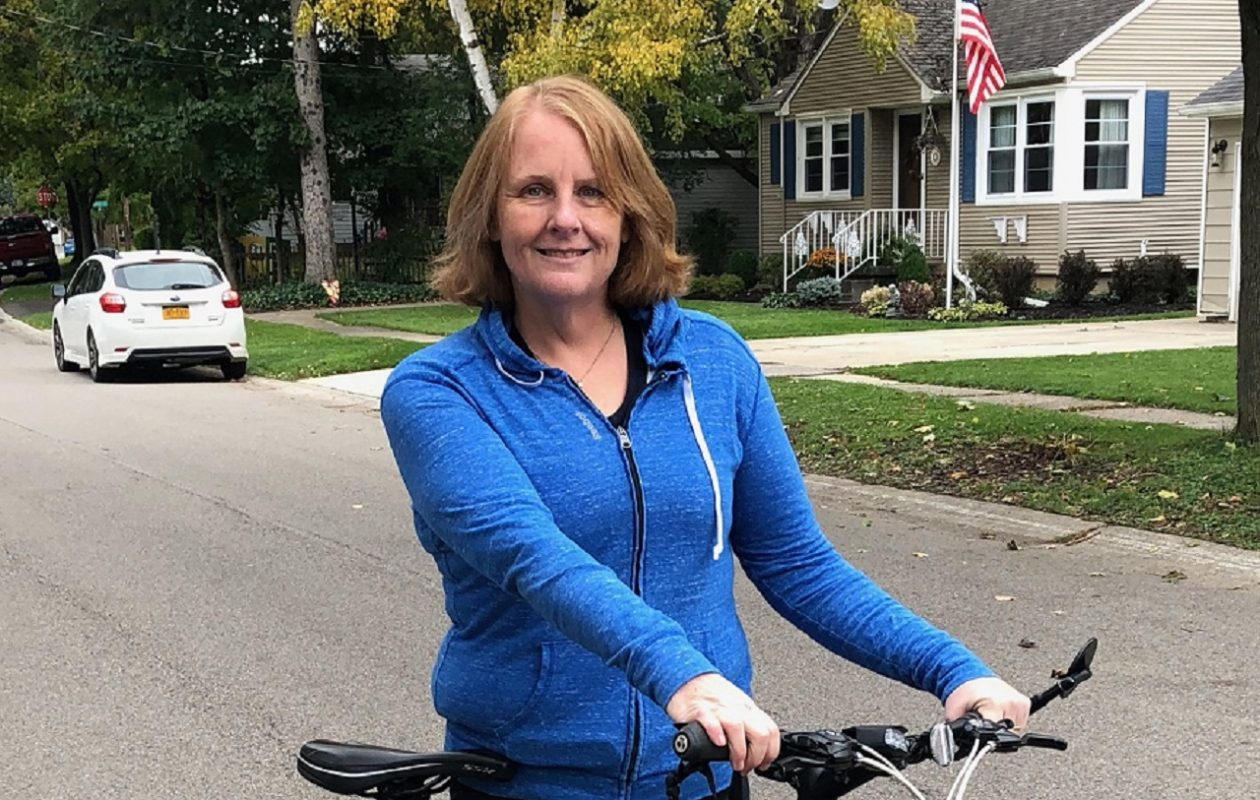 Laura Seil Ruszczyk learned in 2010 that she had a condition related to her autonomic nervous system, after she nearly passed out twice on long bike rides. She resumed riding after getting a pacemaker five years ago. (Courtesy of Laura Seil Ruszczyk )